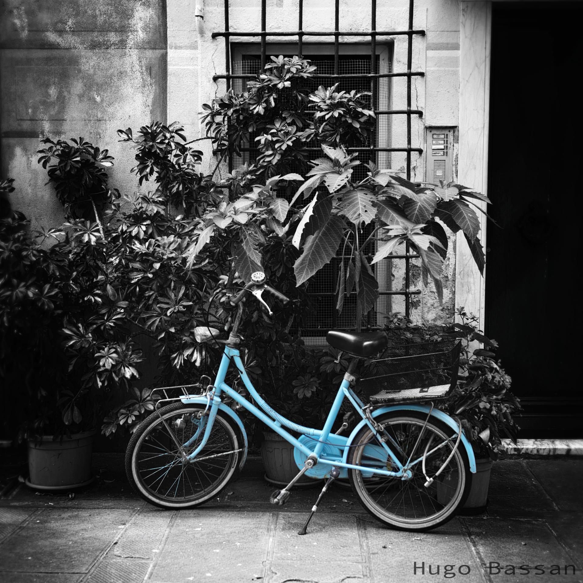 Vélo bleu à Monterosso al mare