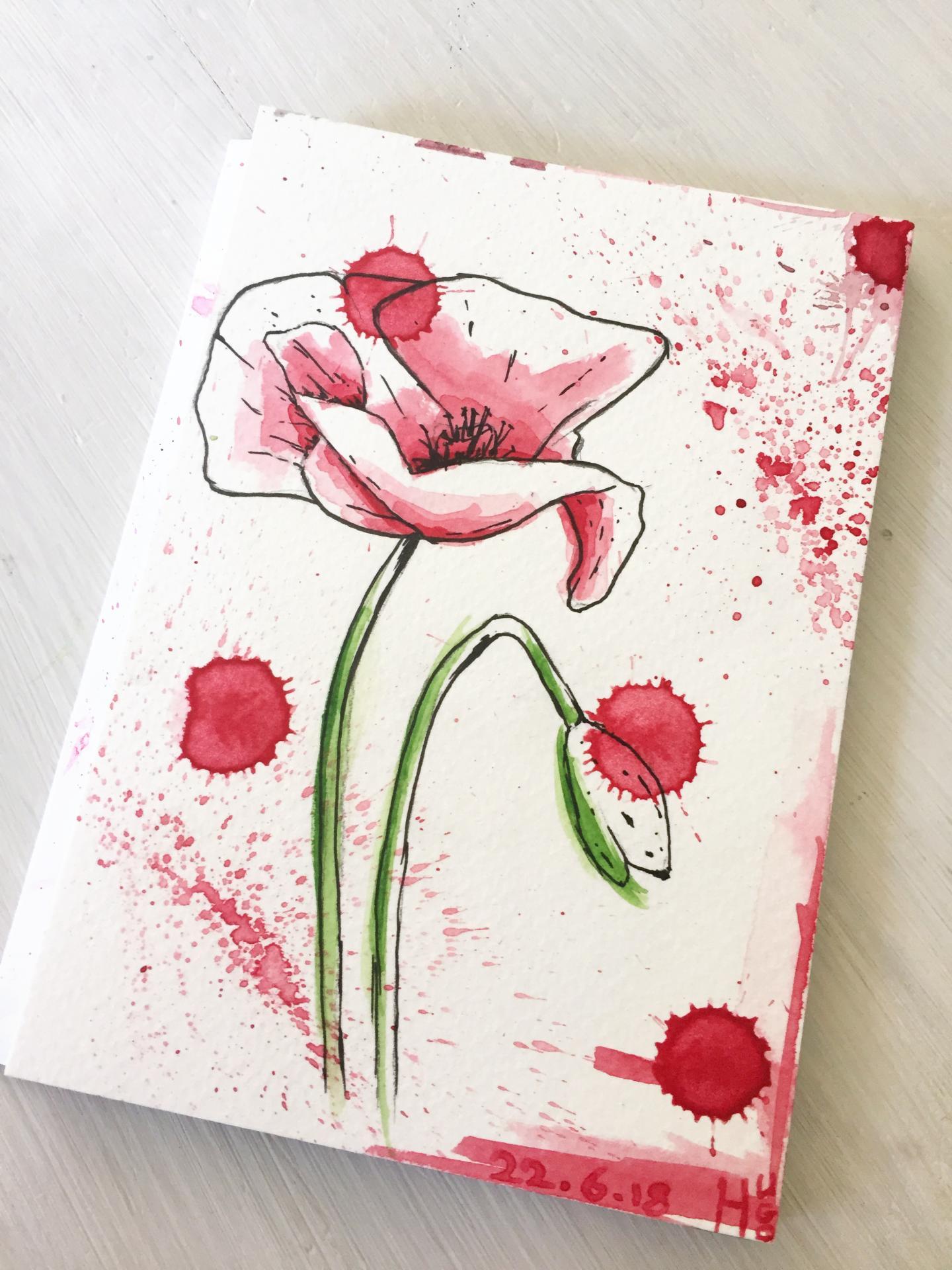 coquelicot watercolor