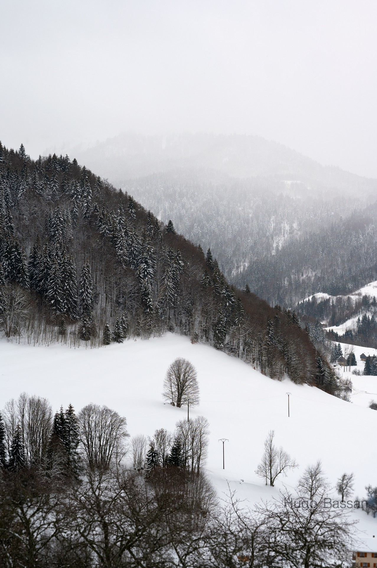Bellevaux sous la neige