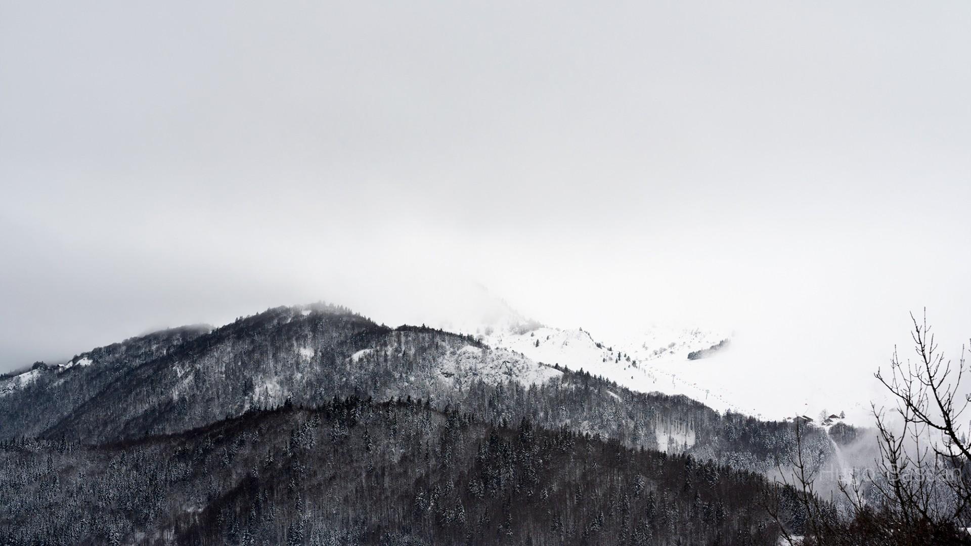 Bellevaux enneigé - Haute-Savoie