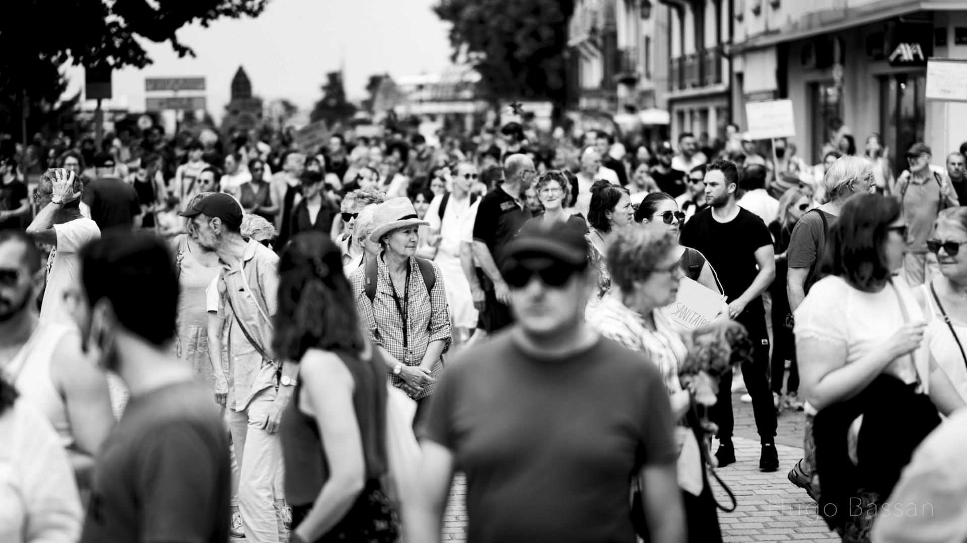 Manifestation anti pass sanitaire Thonon